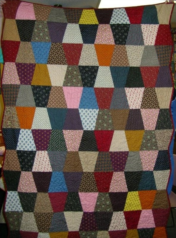 Tumbling Block Quilt Kit in Civil War Fabrics. $61.87, via Etsy.