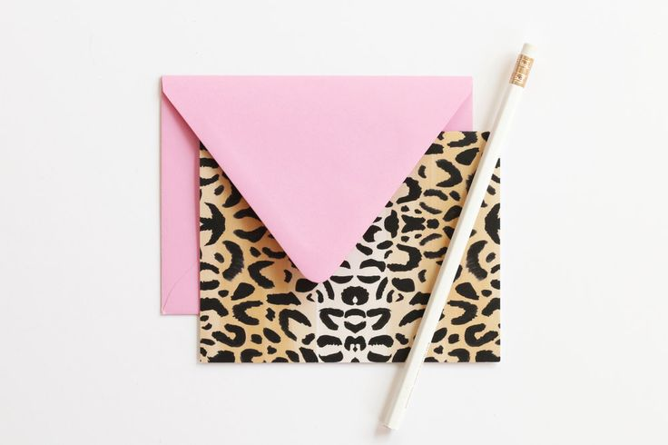 Leopard print stationery - Colorful hand illustrated thank you notes and greeting cards from When it Rains Paper Co!