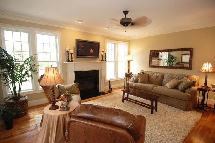 Outstanding Living Room Earth Tones Excellent Tone Colors For With Brown Leather Sofa And White Rugs On Wooden Floor Dropddesi