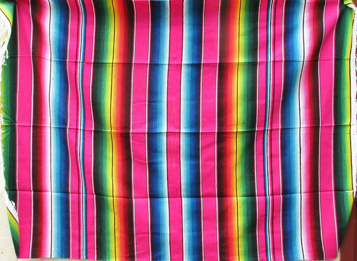 MEXICAN SARAPE BLANKET XL 5 X 7 serape zarape  boos