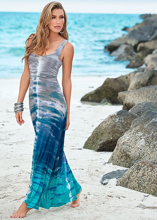 A maxi they will be dying over! Venus tie dye maxi dress.