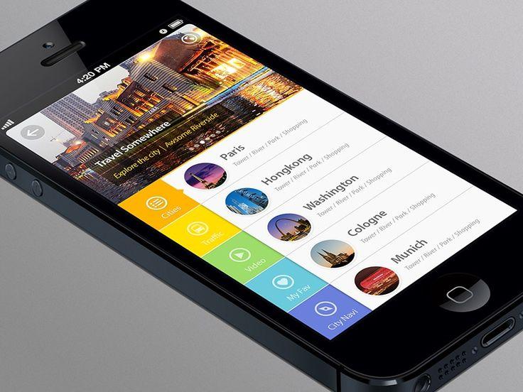 Slide-Open Tab #iphone #app #interface #design #inspiration #mobile #flat