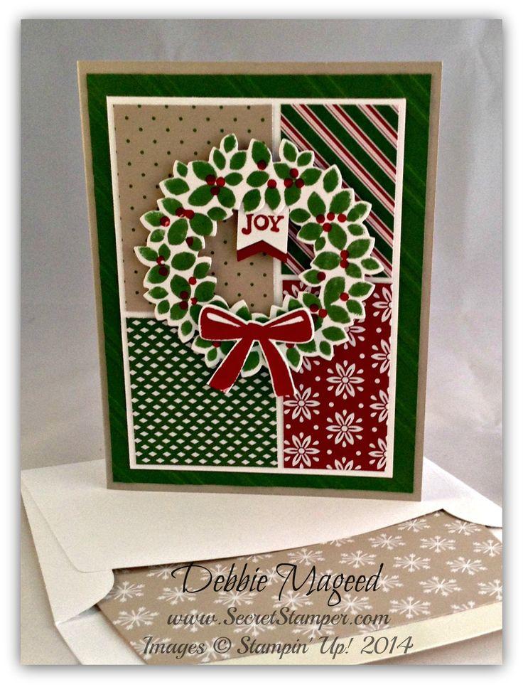 Wondrous Wreath, Bright & Beautiful, Wreath Framelits, Trim the Tree, Holiday Card