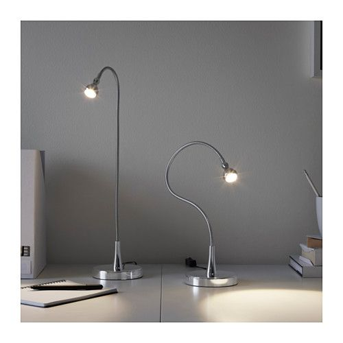 JANSJÖ LED-es íróasztallámpa - ezüstszínű - IKEA