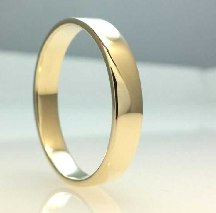Recycled 14k Gold Wedding Band Ring,Fine Polish Gold,4mm Wedding Ring, Eco Friendly,Handmade Wedding Ring,All Sizes One Price by Vaptism on Etsy