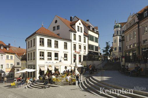 Fußgängerzone Klostersteige in Kempten im Allgäu