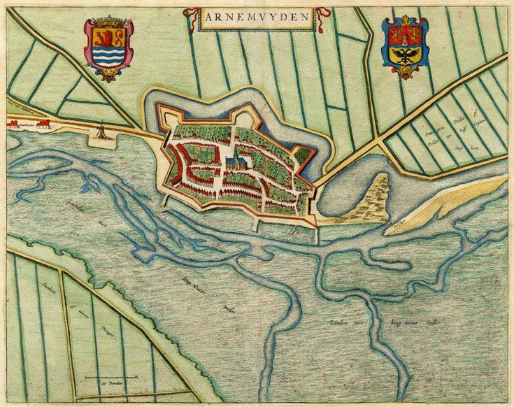 Arnemuyden, The Netherlands - Blaeu,1649