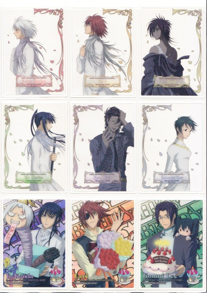 D gray Man_Trading Cards_Shining Clear Card Vol1_Special ...