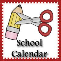 Free School Theme Calendar - 3 different types - 3Dinosaurs.com