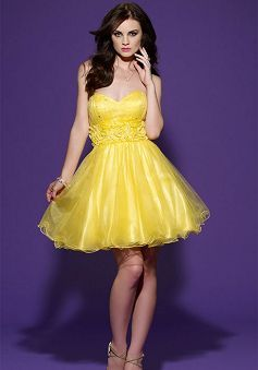 Delicate Sweetheart Short Length A line Natural Waist Evening Party Dress - Lunadress.co.uk