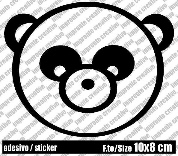 Adesivo Sticker PANDA di impronte creative shop su DaWanda.com