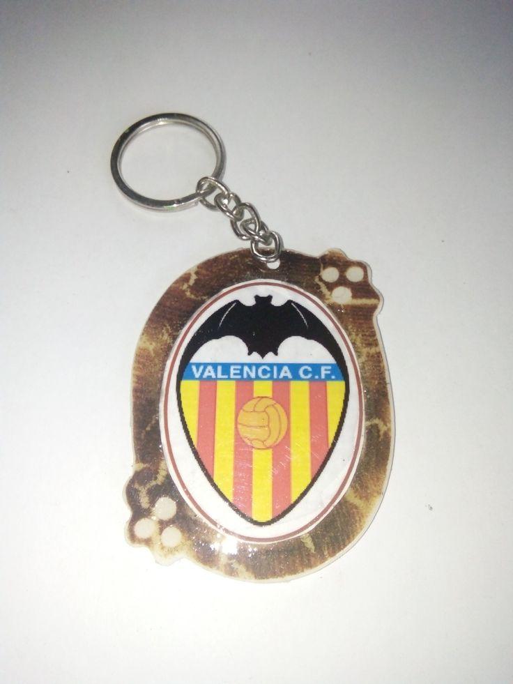 Gantungan Kunci Paralon Bakar Logo Klub Sepakbola VALENCIA