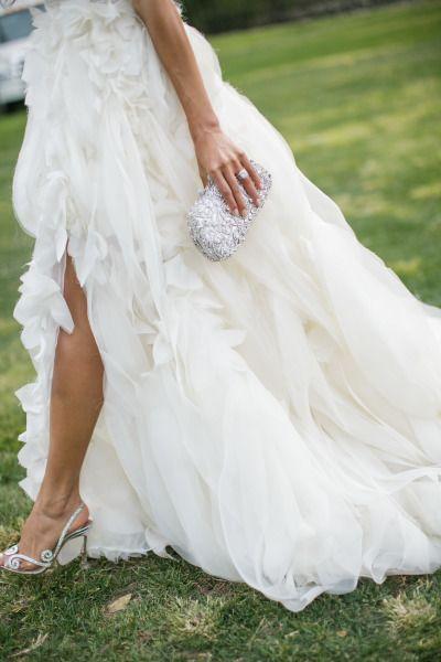 Feathery tulle gown: http://www.stylemepretty.com/california-weddings/st-helena/2014/11/17/romantic-napa-valley-fall-wedding/   Photography: Weddings by Sasha - http://www.weddingsbysasha.com/