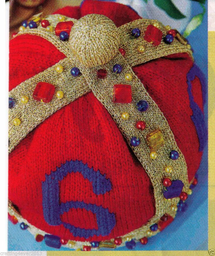 THE ROYAL ENGLAND TEAPOT COSY GREAT FOR GIFT 66 CMS ROUND 8PLY KNITTING PATTERN