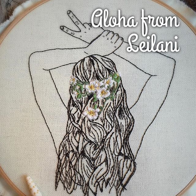 I forgot to announce her name! ................. #handembroidery #embroideryhoop #modernembroidery #hoopaddict #hula #modernmaker #embroidery #fiberart #textiles #bordado #peace #embroidered #handmadewithlove