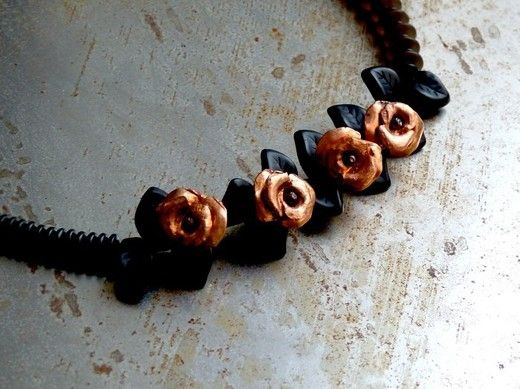 Artematta Murano beaded necklace, Trieste, Italy