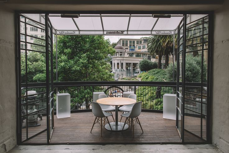 Gaze staff's favourite lunch hang out spot: our office balcony, which is also designed to bring in fresh air into our workspace  #office #design #windows #interiordesign #commercialinterior
