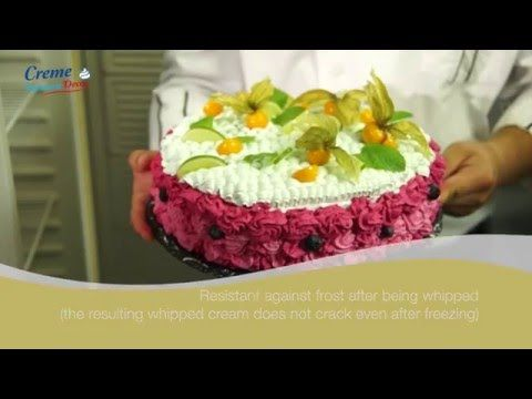 Meggle Creme Patisserie Decor - demonstration - YouTube