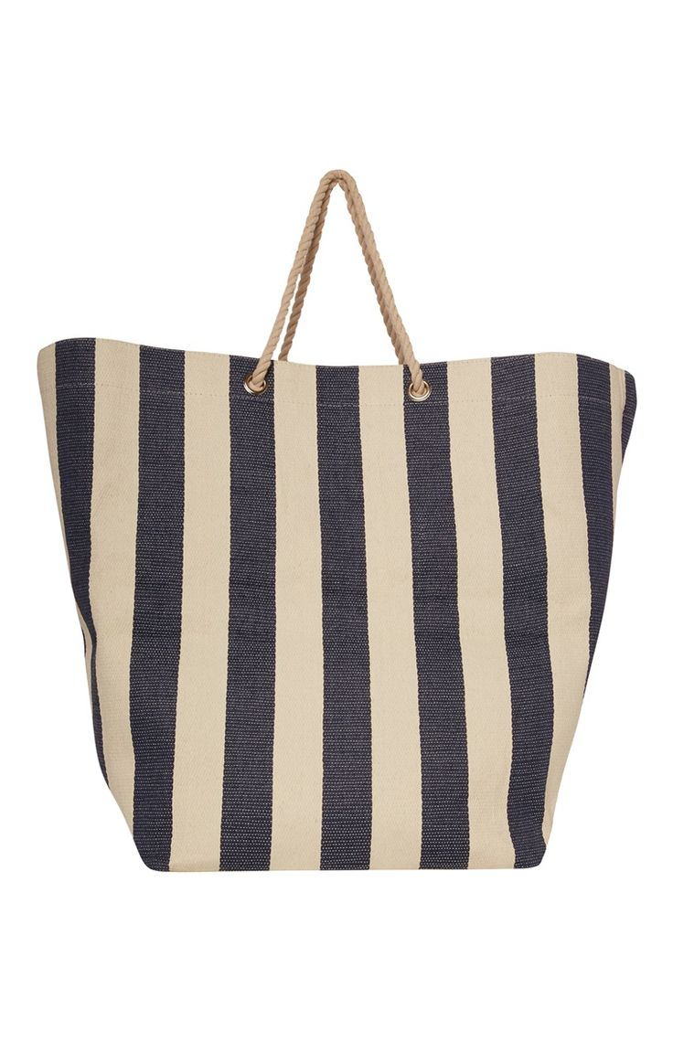 Primark - Blie Stripe Rope Handle Laundry Bag