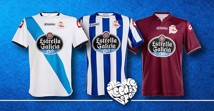 De volta à Primeira Divisão, Deportivo La Coruña mostra suas camisas - http://colecaodecamisas.com/camisas-deportivo-la-coruna-temporada-2014-15/ #colecaodecamisas #Deportivolacoruña, #Lotto