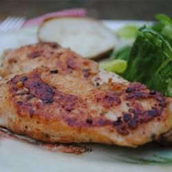Sprinkle chicken breasts with garlic powder, onion powder and seasoning salt - then sautee in butter, and enjoy. Couldn't be easier! Great recipe for quick and easy meal, even for the pickiest eater.