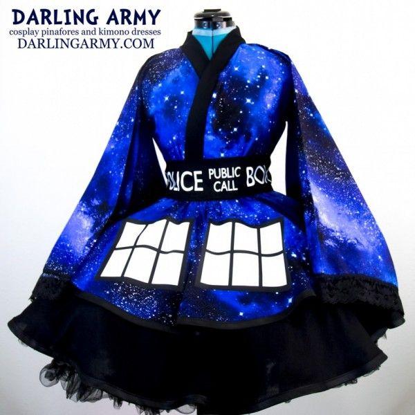 Um vestido/quimono para as fãs de Doctor Who!