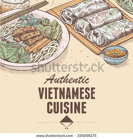 8 best food cooking book images on pinterest vietnamese cuisine image result for sketch food vietnam forumfinder Choice Image