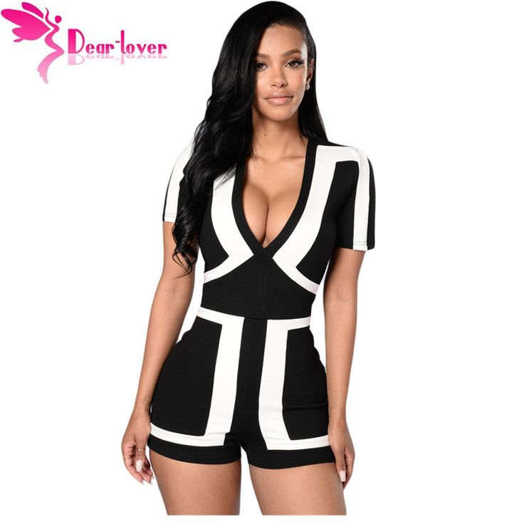 Aliexpress.com : Buy Dear Lover sexy jumpsuit 2016 summer short sleeve Classic Colorblock Solid Black Back Romper Women's Shorts  Bodysuits LC64063 from Reliable Rompers suppliers on dearlover Official Store