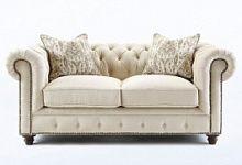 Комфортный диван для отдыха из ткани цвета ваниль Lenoris - Vanilla, Ashley