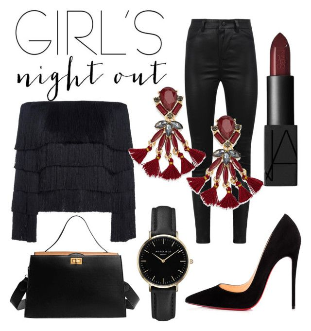 """""""Girls Night Out"""" by emmamashilo on Polyvore featuring A.L.C., Manokhi, INC International Concepts, Christian Louboutin and ROSEFIELD"""