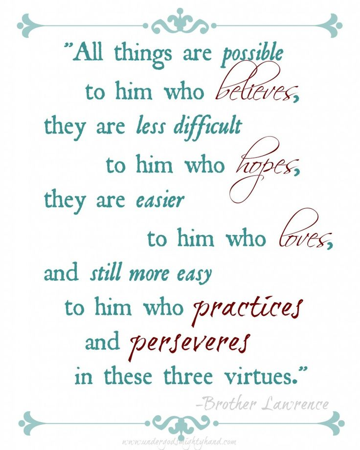 What Grace Brings - plus a free Brother Lawrence quote printable via Under God's Mighty Hand