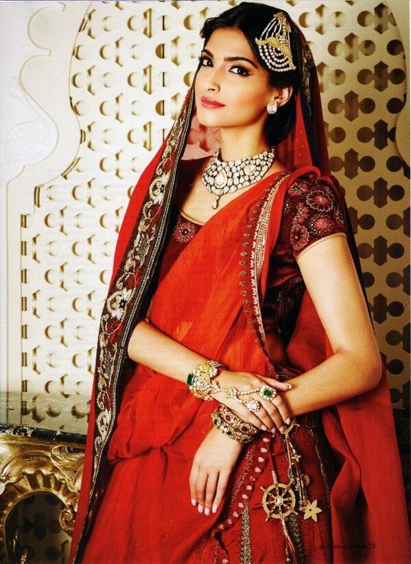 @sonamakapoor Sonam Kapoor adorned with #jewellery by #Birdhichand in @TheHindu Bridal Mantra magazine, Winter 2013.