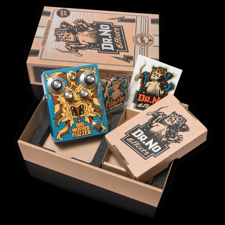 Dr.No Effects - Bad Motherfuzzer (guitar pedal packaging)