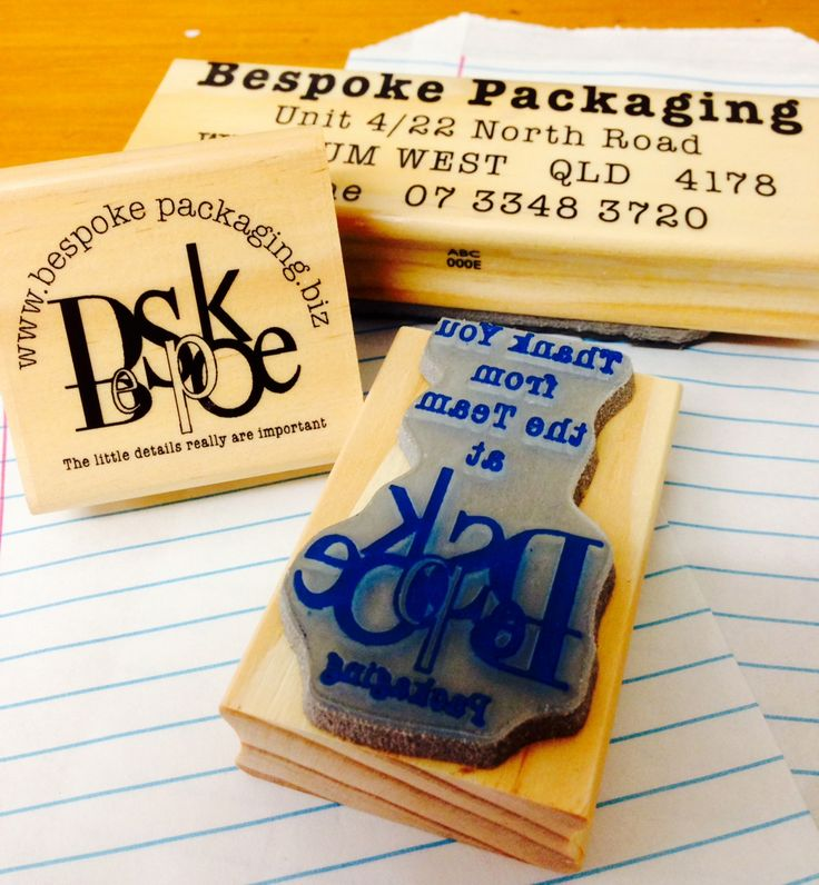 Order your Custom logo rubber stamps now online at www.bespokepackaging.biz