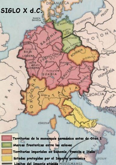 Territotios de la Dinastía Otoniana. S.X-1024.
