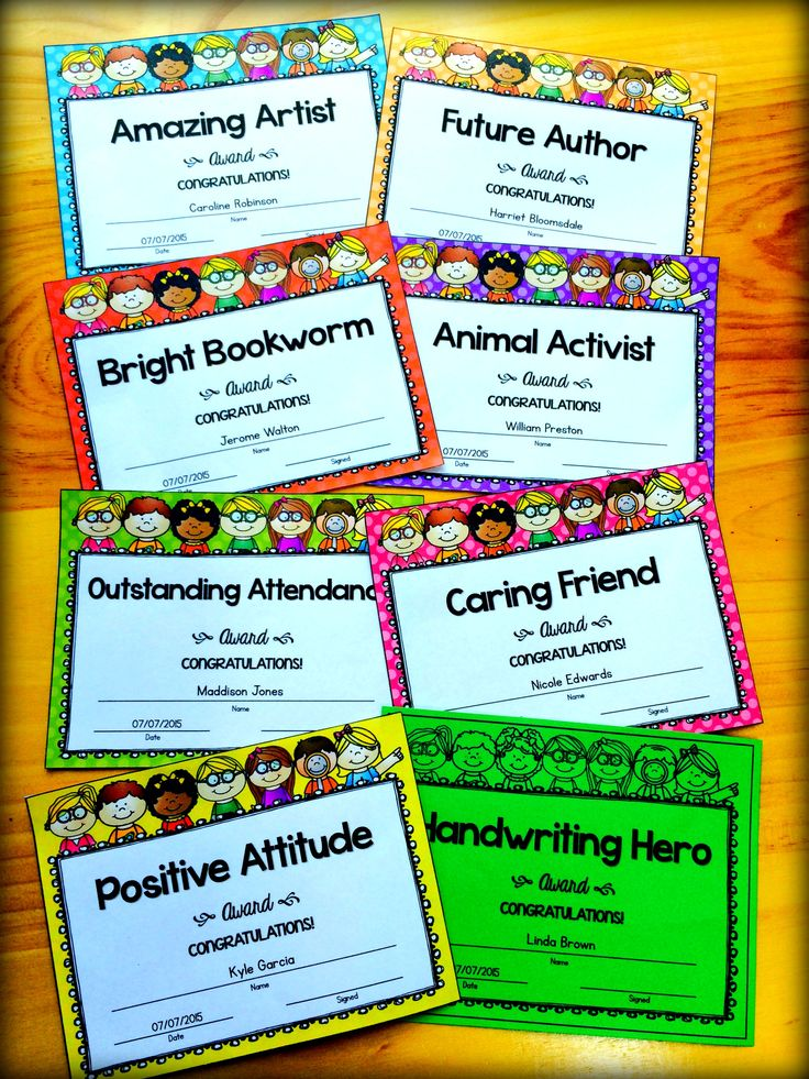 End of Year Awards - Editable Awards.  You are going to love these bright and motivational student awards! Use them as end of year awards, or use them throughout the year to encourage and reward your students. There are 50 awards to choose from and you can also create your own awards by using the editable PPT.