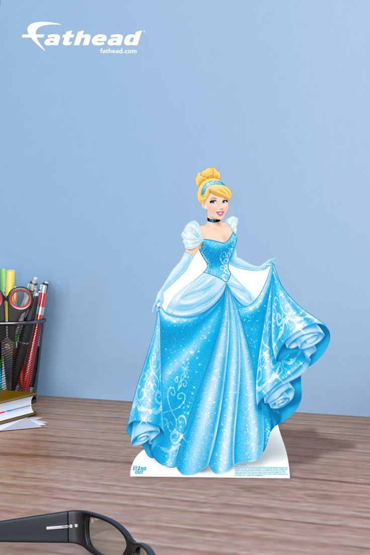 So you're looking for that little something extra to get your friend or family member that worships the Disney Princess, Cinderella. It doesn't matter the occasion - graduation, birthday, holiday, etc. – this Cinderella Desktop Stand Out is an inexpensive Disney Princess gift that can result in jaw dropping excitement! SHOP  http://www.fathead.com/disney/princesses/cinderella-desktop-stand-out-cutout/ | Girl Bedroom Home Decor On A Budget | Kids DIY Bedroom Decor | Disney Decor