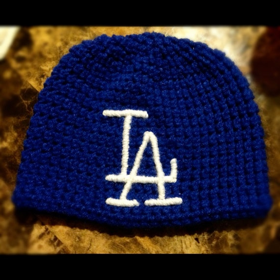 Crochet Hair Los Angeles : Los Angeles Dodgers Toddler Teen beanie by GrowingloveDesigns, $25.00