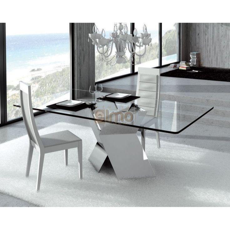 table de salle a manger moderne pied metal - Table A Manger Moderne