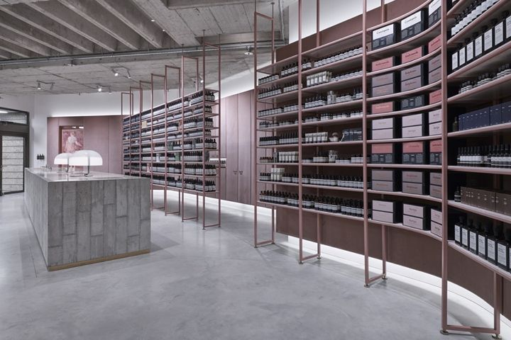 aesop store by einszu33 munich germany cosmetic store. Black Bedroom Furniture Sets. Home Design Ideas