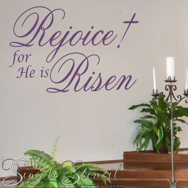 Church Decor Ideas with Wall Decal and Lettering