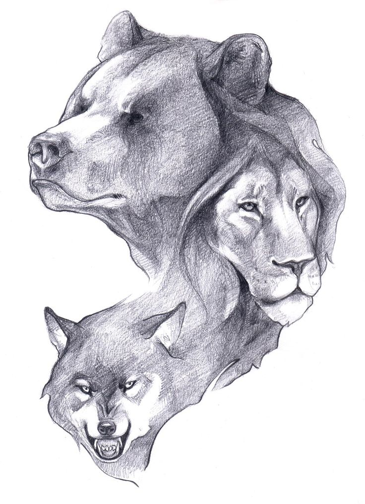 Would like a tattoo like this, but maybe different animals and using a different style.