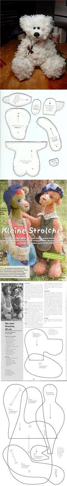 Cómo coser un oso con las manos    Patrones oso de juguete    Sweet home - la idea de la costura, tejido de punto, decoración de interiores