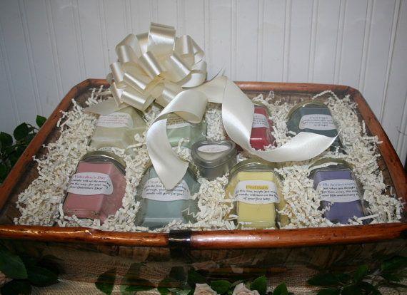 Candle Poem For Wedding Gift: Candle Bridal Basket With Candle Poem For Bridal Shower