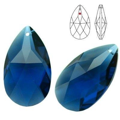 STRASS Swarovski 8721 Pear Shape 28mm Dark Sapphire  Dimensions: 28,0 mm Colour: Dark Sapphire 1 package = 1 piece