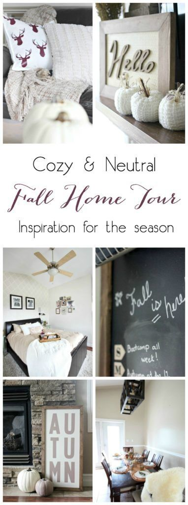 Fall Home Tour - Love Create Celebrate. Beautiful inspiration for a neutral fall home! Love the mix of taupes and coppers - so original!