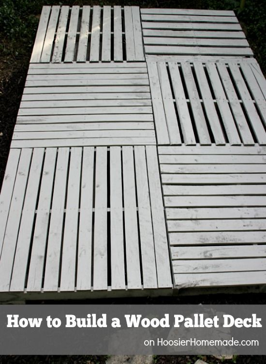 How To Build A Wood Pallet Deck Outdoor Crate Ottoman