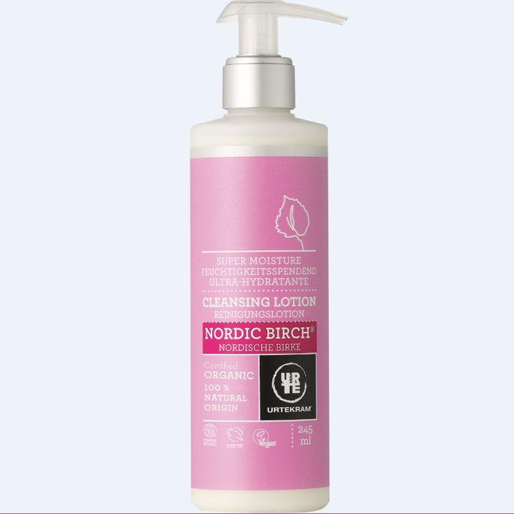 URTEKRAM Mleczko do czyszczenia twarzy Nordycka Brzoza 245 ml - Nieprzyzwoicie naturalny sklep dla kobiet lubiących siebie