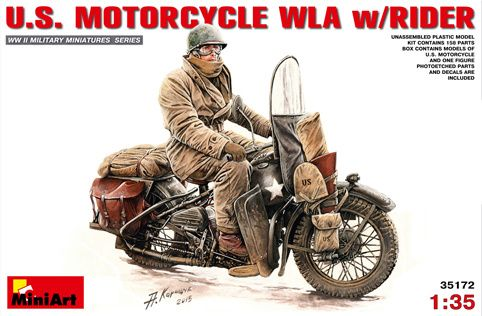 MiniArtU.S. Motorcycle met rijder. € 23,95 http://www.modelbouwwildervank.nl/a-41715879/militaire-voertuigen-wwii-1-35/u-s-motorcycle-met-rijder/
