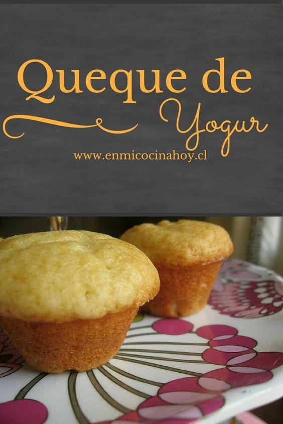 El queque de yogur es de los primeros queques que uno aprende a hacer en Chile…